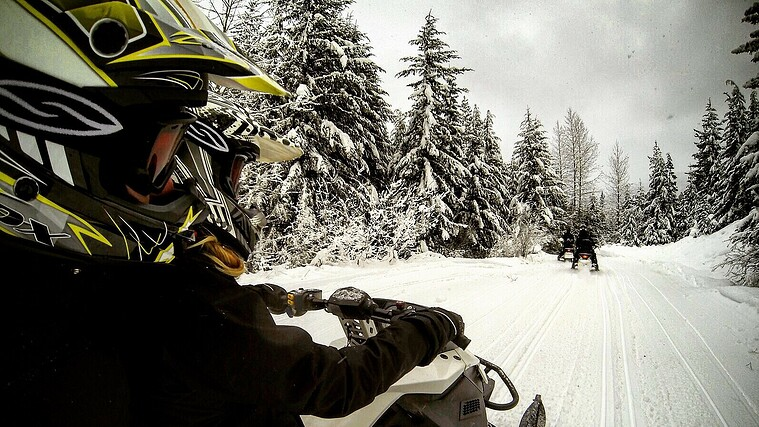 Whistler - snowmobiling
