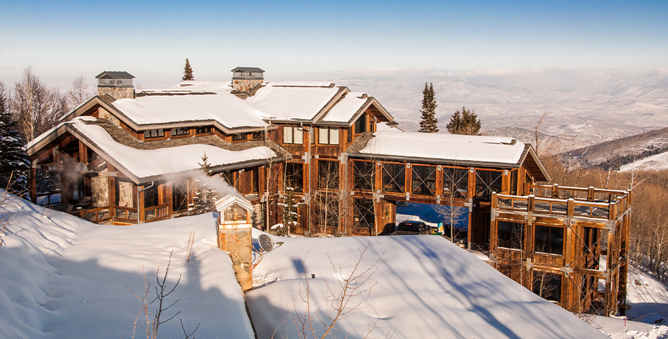 Park City luxury cabin in the winter