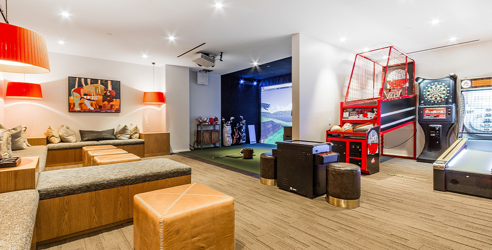 Large community game room, kid-friendly vacation rentals