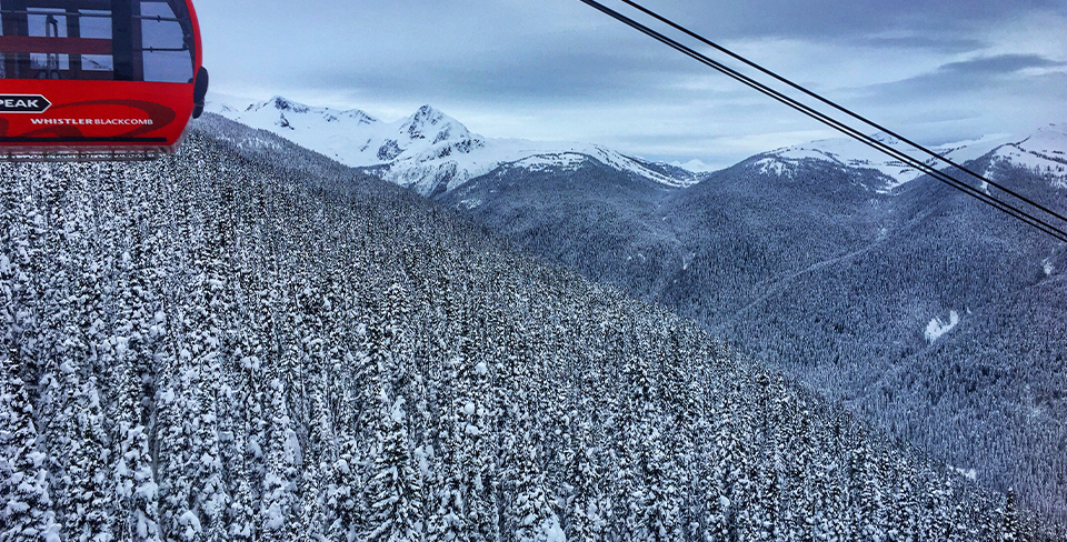 Peak to peak ski lift in Whistler