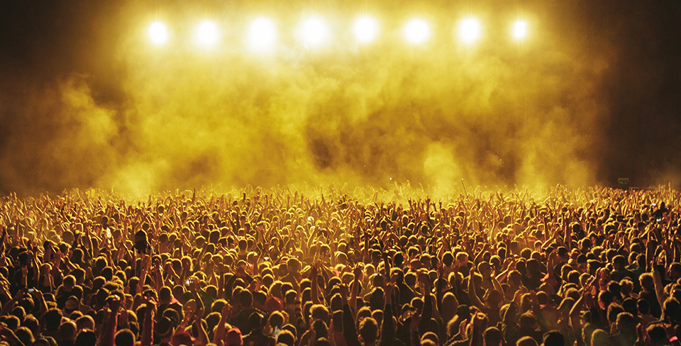 Large concert crowd 2020 travel goals