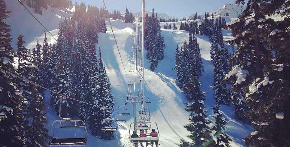 Going up a ski lift in Whistler 2020 travel goals